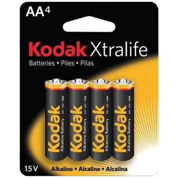 Kodak KODAK KAA-4 836-7807 Xtralife Alkaline Batteries AA PK 4 Pk