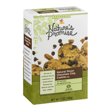Nature's Promise Naturals Natural Pecan Chocolate Chip Cookies