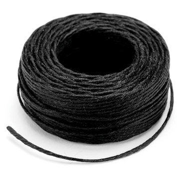 Tandy Leather Factory Leather Factory 389552 Waxed Thread 25 Yards-Black
