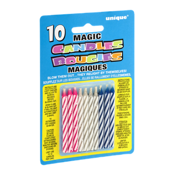Unique Magic Candles - 10 CT