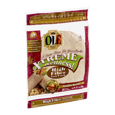 Ole Mexican Foods Xtreme Wellness! Tortilla Wraps High Fiber Low Carb - 8 CT