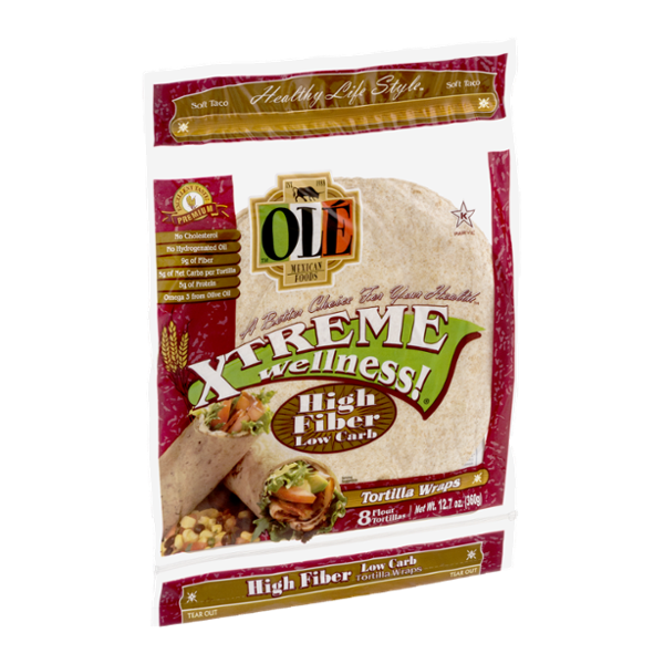Ole Mexican Foods Xtreme Wellness! Tortilla Wraps High