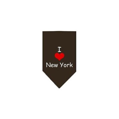 Ahi I Heart New York Screen Print Bandana Cocoa Small
