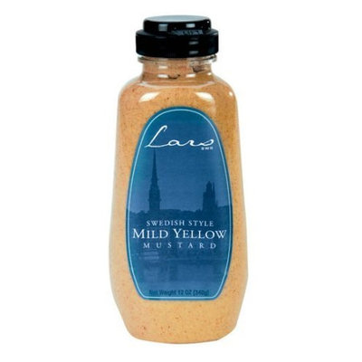 Lars Own Lars' Own Swedish Style Mustard Mild Yellow, 12-Ounce Containers (Pack of 12)
