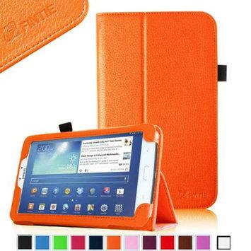 Fintie Folio Classic Leather Case for Samsung Galaxy Tab 3 7.0 inch Tablet, Orange