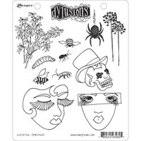 Ranger Dyan Reaveley Dylusions Cling Rubber Stamp - Bits of This
