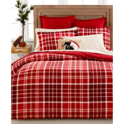 Martha Stewart Collection Winter Tartan Flannel Duvet & Sham Collection