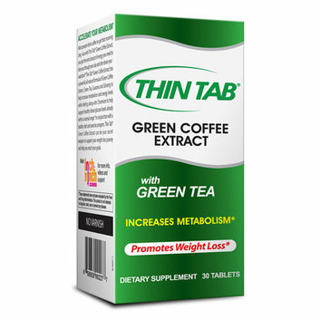 Thin Tab Green Coffee Extract with Green Tea Dietary Supplement Tablets