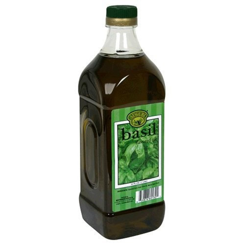Auguri Basil Flavored Extra Virgin Olive Oil, 33.8-Ounce Bottles (Pack of 3)