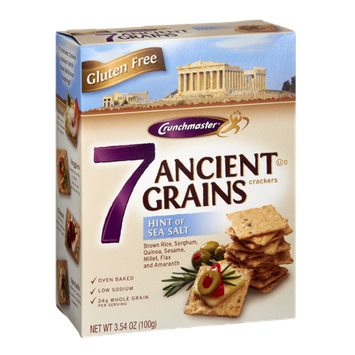 Crunchmaster Gluten Free Hint of Sea Salt 7 Ancient Grains Crackers