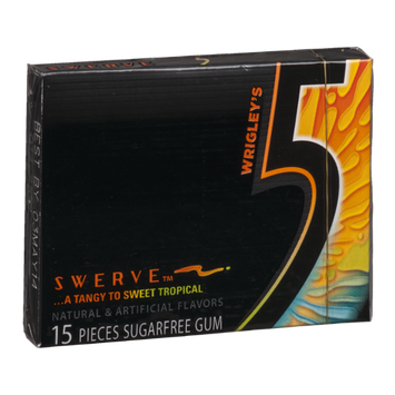 Wrigley's Five Swerve Sugar Free Gum ...A Tangy To Sweet Tropical - 15 CT