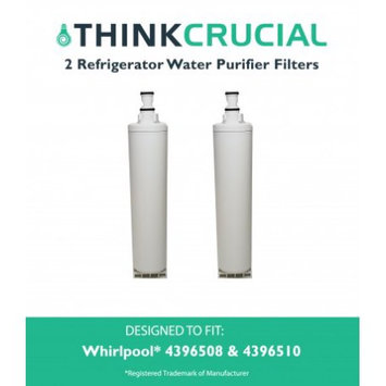 Crucial Air 2 Whirlpool 4396508 (RFC0500A) Refrigerator Water Purifier Filters Fit Whirlpool 4392857 & 4392857R