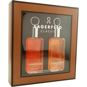 Lagerfeld By Karl Lagerfeld For Men, Set-edt Spray, 2-Ounce Bottle & Aftershave, 2-Ounce Bottle