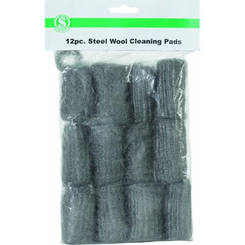 Do It Best Gs 12-Piece Steel Wool Scouring Pad - Smart Savers - Pack of 12