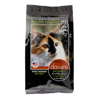 Dave's Pet Food Daves Naturally Healthy Adult Cat Food 4lb