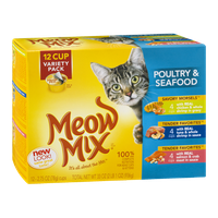 Meow Mix Poultry & Seafood Cat Food Variety Pack - 12 CT