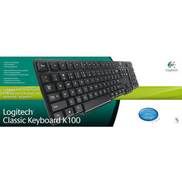 Logitech K100 104-Key PS/2 Wired Classic Spill Resistant Keyboard 920-003199