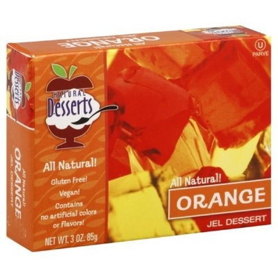 Natural Desserts Jel Mix, Orange, 3-Ounce (Pack of 24)