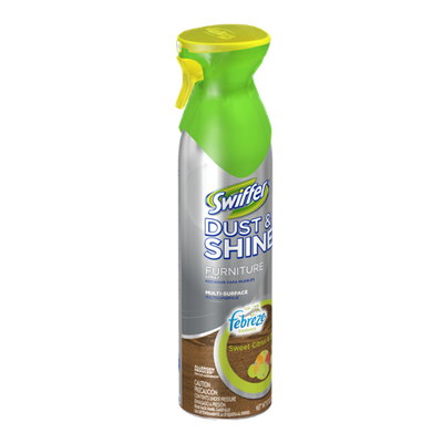 Swiffer Dust & Shine Furniture Polish Cleaner Febreze Citrus and Light Scent 9.7 Oz