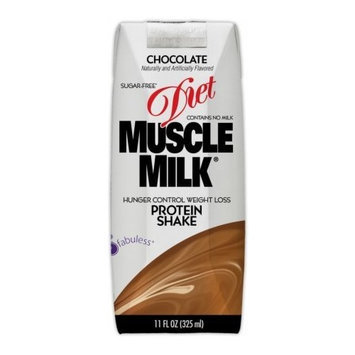 Muscle Milk Diet Protein Shake RTD's, Vanilla, 11 oz, 4 pk