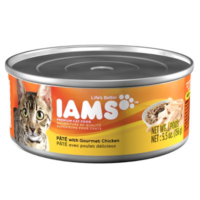 Iams ProActive Health Adult Cat Premium Pate with Gourmet Chicken