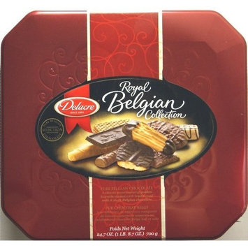 Delacre Royal Belgian Collection Assorted Biscuits Delacre Royal Belgian Collection Tin Box Exquisite European Assorted Biscuits Net Weight 24.7 OZ (700 g)