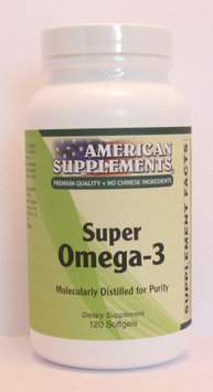 Super Omega-3 No Chinese Ingredients American Supplements 120 Softgel