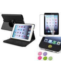 Insten iPad Mini 3/2/1 Case, by INSTEN Black 360 Leather Case Cover+Guard/Sticker for iPad Mini 3 2 1