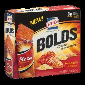 Lance Bolds Cracker Sandwiches Pizza - 6 CT
