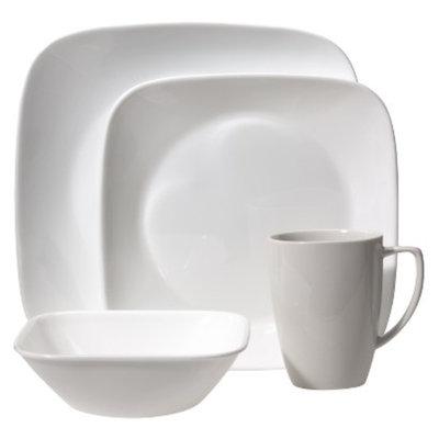Corelle 16 Piece Square Dinnerware Set - Pure White