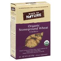Back to Nature Crackers, Organic, Stoneground Wheat - 6 oz