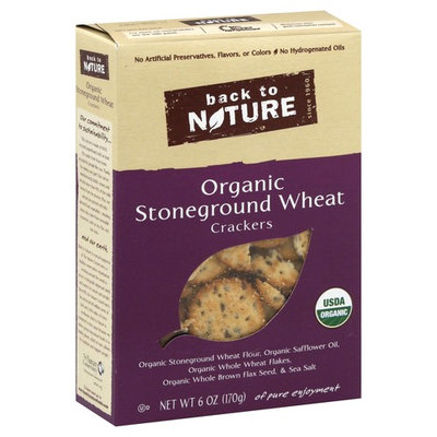 Back to Nature Crackers, Organic, Stoneground Wheat - 6 oz