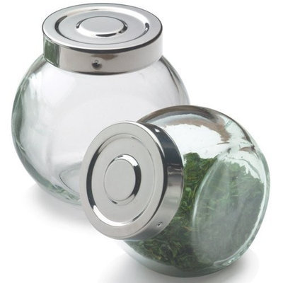Glass Ball Spice Bottle with Stainless Steel Lid - 6 oz,(Frontier)