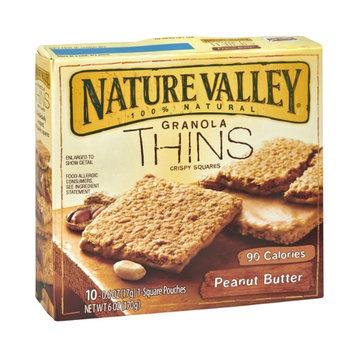 Nature Valley Granola Thins 90 Calorie Peanut Butter Crispy Squares