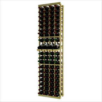 Wine Cellar Innovations Traditional Series 72 4-Column Pine Wine Rack with Display Shelf