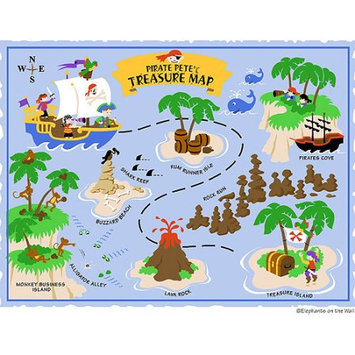 Elephants on the Wall 5-1312 Pirate Pete s Treasure Map- Large