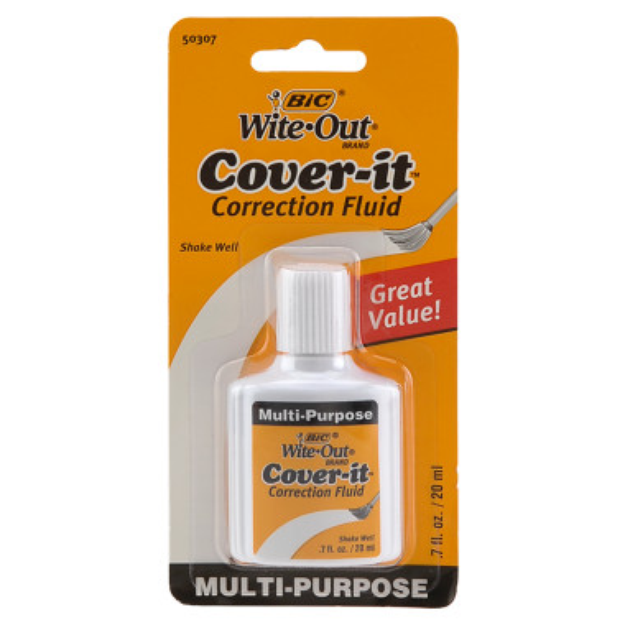BIC Wite Out Cover-It Correction Fluid, 0.7 oz