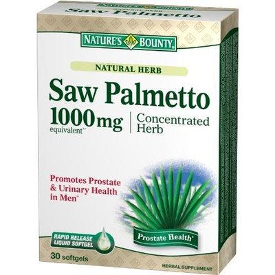 Nature's Bounty Natural Saw Palmetto 1000mg, 30 Softgels