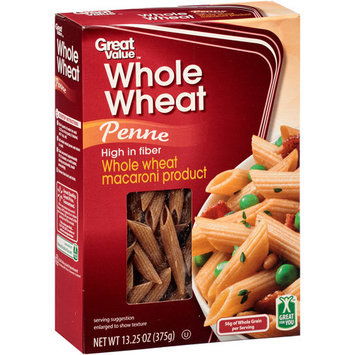 Great Value: Whole Wheat Penne, 13.25 oz