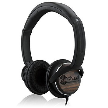 NX26-12448 NoiseHush NX26 3.5mm Stereo Headphones with In-line Mic - Wood - Retail