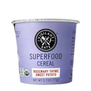 Vigilant Eats - Organic Superfood Oat-Based Cereal Rosemary Thyme Sweet Potato - 2.7 oz.