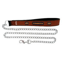 GameWear Oklahoma State Cowboys Football Leather 2.5mm Chain Leash - M