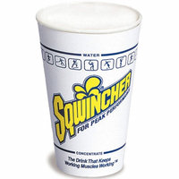 SQWINCHER 200101 Disposable Cup,12 oz, White, PK100