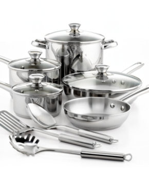 Tools Of The Trade Tools of the Trade Stainless Steel 12 Piece Cookware Set