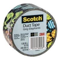 Scotch Duct Tape Grey Elephants
