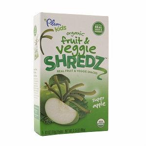 Plum Kids Organic Fruit & Veggie Shredz Real Fruit & Veggie Snacks