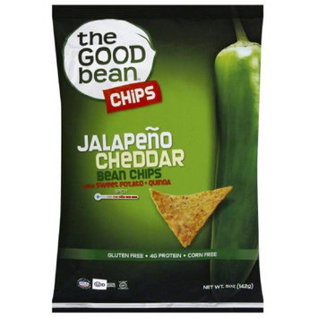 The Good Bean Jalapeno Cheddar Bean Chips, 5 oz, (Pack of 12)