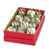 Bouquet of Fruits 2 Bite Delight Standard Chocolate Dipped Strawberries, 12 piece, 1 ea
