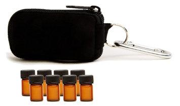 Aroma Designs Essential Oil Key Chain With 8 5/8 Dram (2 ml) Vials (Purple)