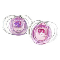 Tommee Tippee Closer To Nature Girl Pacifier (2pk) - 6-18M